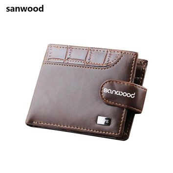 2016 Men Bifold Faux Leather ID Card Holder Money Clutch Billfold Coin Wallet Purse Carteira 9IGX