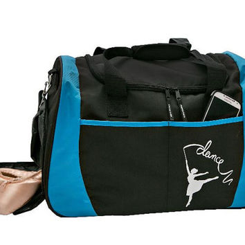 Dancer Silhouette Gear Duffle Bag FREE Personalization Gear Duffel Ballet Bag Lg Dance Bag Recital Ballet bag Valentine Christmas Birthday