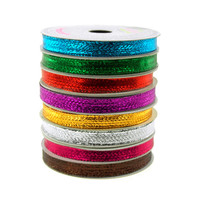 Solid Metallic Wired Ribbon, 3/8-inch, 10-yard
