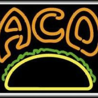 Tacos Backlit Illuminated Window Sign