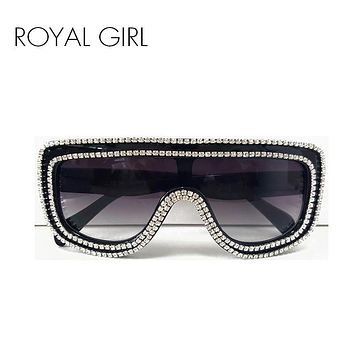 ROYAL GIRL High quality Luxury Women Jewelry Sunglasses Rhinestones Rim Designs Sun glasses ss378