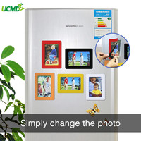 Magnetic Photo Frame Fridge Magnets Refrigerator Decor Flexible Multicolor Square Frame Picture Frames 5Pcs / Lot