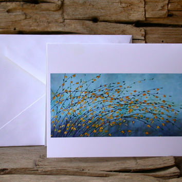 Forsythia Blank Card Set from Original Oil Painting