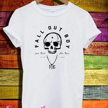 fall out boy save rock and roll shirt FOB logo shirts tshirt t-shirt tee shirt printed white color unisex size