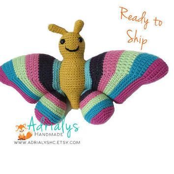 Crochet Butterfly- Stuffed Butterfly- Butterfly Plush- Bug Toys- Insect Toys- Handmade Butterfly- Crochet Toy- Ready to Ship