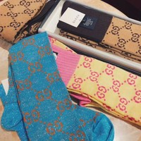 GUCCI GG pattern cotton blend socks