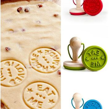 EAT ME LOVE YOU & HOMEMADE Cookie Press Stamp Set