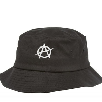 anarchy embroidery Bucket Hat