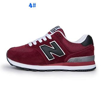 New balance Men Women Comfortable running shoes for Sports Burgundy