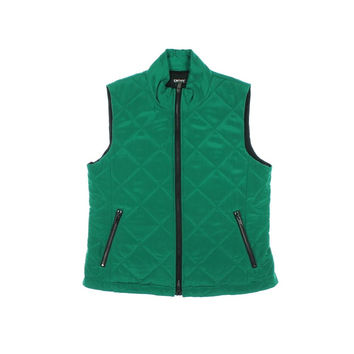 DKNY Womens Silk Quilted Outerwear Vest