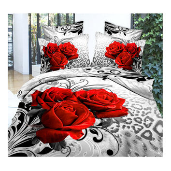 3D Queen King Size Bed Quilt/Duvet Sheet Cover Cotton reactive printing 4pcs 1.5M bed 04