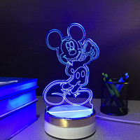 Mickey Mouse USB touch Night Lamp 3d Table Lamps 7 color changing LED Lamp home decor customized Gift for children