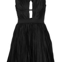 Roberto Cavalli | Pleated cotton-blend dress | NET-A-PORTER.COM