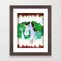 Dentist Unicorn Framed Art Print by thatssounicorny