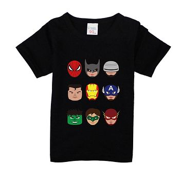 12M-8years Toddler boys Batman t shirt superhero new summer cotton children kids shorts baby boys girls tops tees t shirt