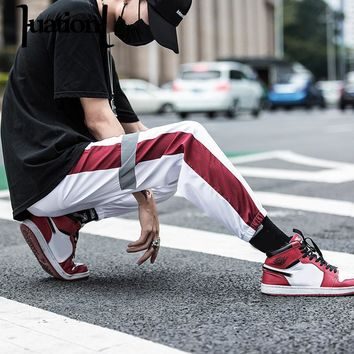 Huation Autumn Streetwear Fitness Pants Men Hip Hop Sweatpants Pockets Casual Joggers Unisex Harajuku Sportswear Track Pants