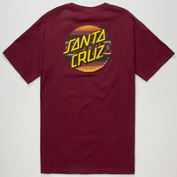 Santa Cruz Serape Dot Mens T-Shirt Burgundy  In Sizes