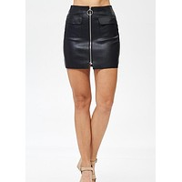 Vienna Faux Leather Skirt