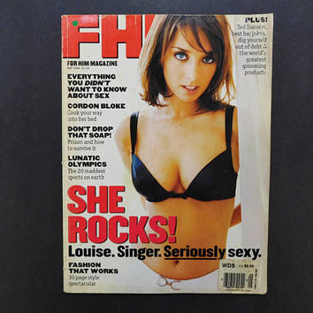 1990s Vintage / FHM Magazine / For Him Magazine / May 1996 / Louise Nurding / British Mens Magazine / 90s Fashion / 90s Culture / Eurostyle