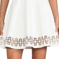 Lovers + Friends x Monica Rose Charlie Vegan Leather Skirt in White