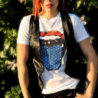 Rock N Roll Americana Tee by PAULINAclothing on Etsy
