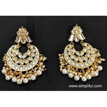 Kundan replica Earring - Design 4