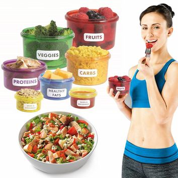 Portion Control Food Fitness Storage Container