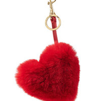 Heart Keychain with Leather and Rabbit Fur - Anya Hindmarch | WOMEN | US STYLEBOP.COM
