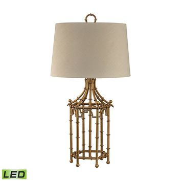 Bamboo Birdcage LED Table Lamp