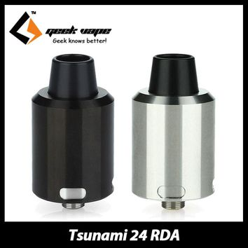100% Original GeekVape Tsunami 24 RDA Atomizer Electronic Cigarette Rebuildable Atomizer Tank Hollow positive pin for Squonk MOD