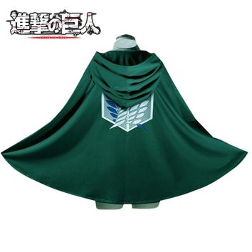 Cool Attack on Titan Hot Japanese Anime  Scouting Legion Cloak Cape Cosplay Costume Halloween Party Unisex Uniform AT_90_11