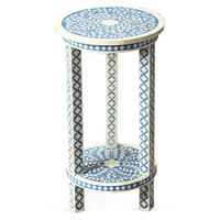 Cole Accent Table, Blue, Standard Side Tables