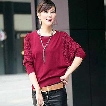 Women's Beige Black Red Cardigan