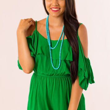 Royal Palms Romper in Green