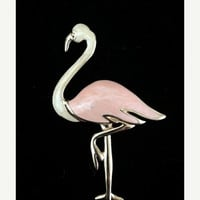ON SALE Vintage Trifari Pink Flamingo Brooch