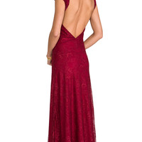 Lovers + Friends Vanity Fair Dress in Red
