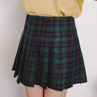 Plaid Pleated Skirt from hhotaru