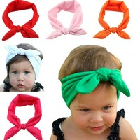Qandsweet Baby Girl Elastic Hair Hoops Headbands (6pack) (6 Colors Hair Hoops)