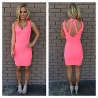 Hot Pink Barbie Body Con Dress