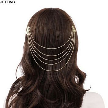 Bijoux Tiara Bridal Hairwear Clip Imitation Pearl Tassel Hair Combs Hairpin for Women Wedding Headwear Accessories