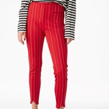 Monki | Trousers | Stretchy striped trousers