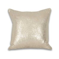 Square Crackle Metallic Pillow - Gold
