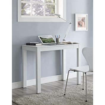 Altra Parsons White Wooden Desk with Chevron Top | Overstock.com Shopping - The Best Deals on Desks