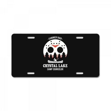 crystal lake camp counselor License Plate