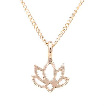 Lotus Necklace with Inspirational Message Card