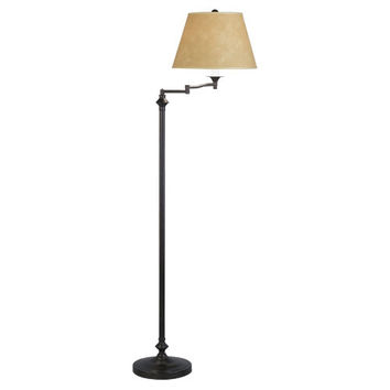 Wilton Collection Swing Arm Floor Lamp design by Robert Abbey