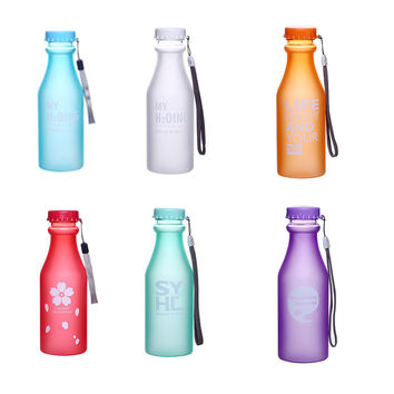 Best Quality My lime lemon juice bottle sports Breakproof cicycle stylish space cup with the word Drinkware 550 ml Water Bottle