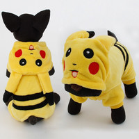 Pikachu Design Dog Costume