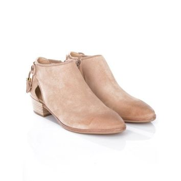 Michael Kors Tan Suede Jennings Flat Ankle Boot