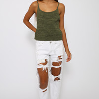 Banana Moon Crop - Khaki